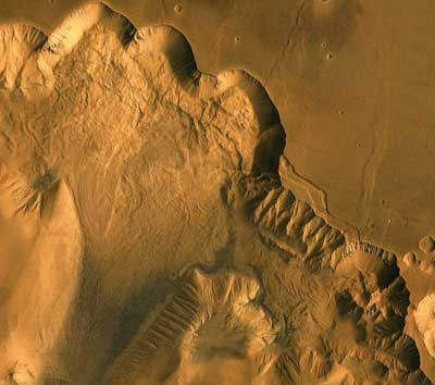 landslides in Valles Marineris