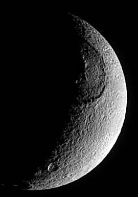 Giant crater on Tethys