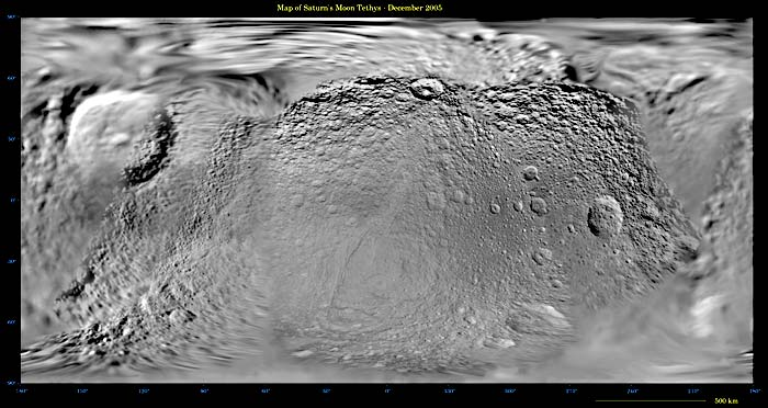 Shaded relief of Tethys