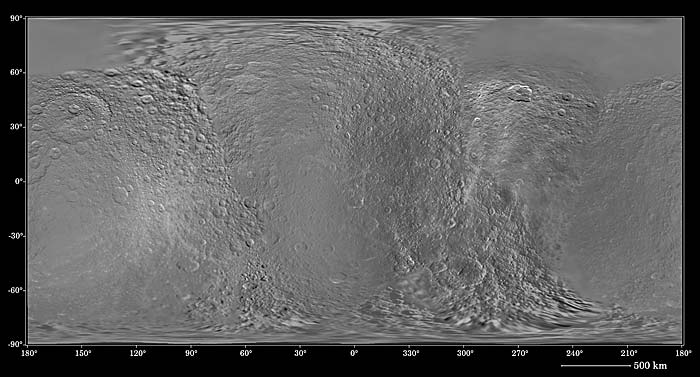 shaded relief of Rhea